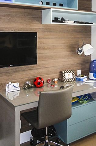 Complementos para quarto e home office.